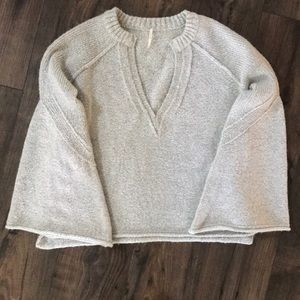Free people bell sleeved sweater